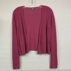 J Jill long sleeve pink shrug sweater
